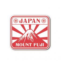 Japan Sunrise Mount Fuji Sticker