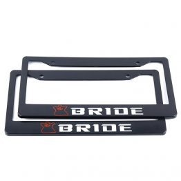 bride license plate frame