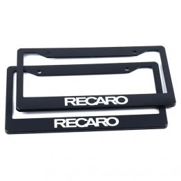 recaro license plate frame cover